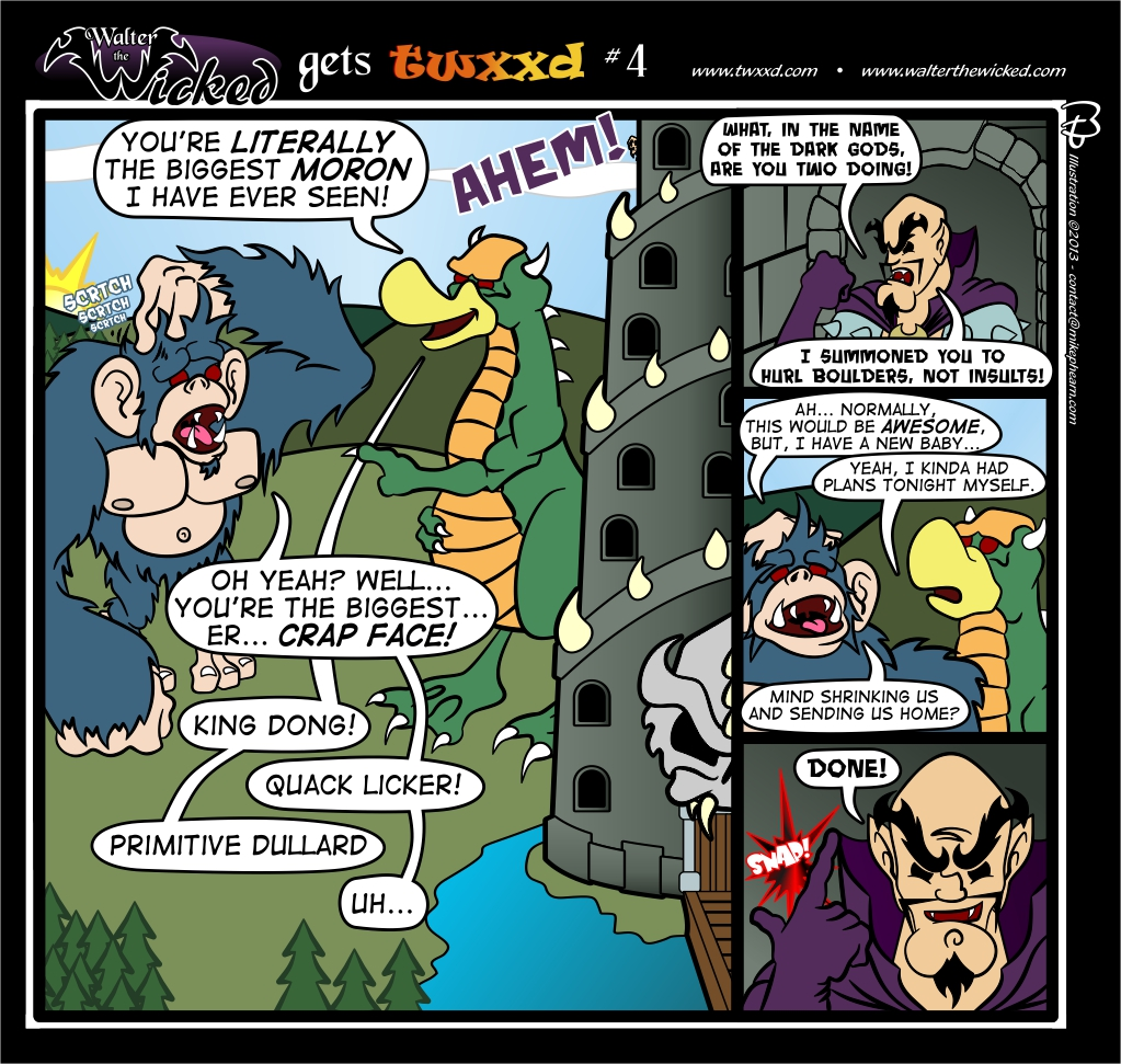 Guest Strip: Walter the Wicked gets twxxd #4